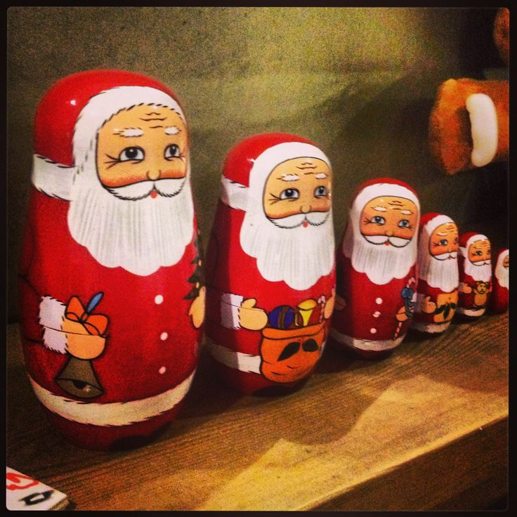 Santa babushka dolls - so cute