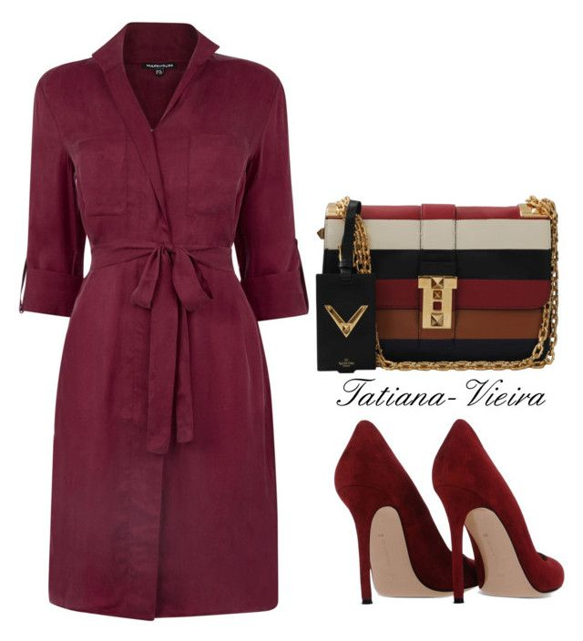 """""""15"""" by tatiana-vieira ❤ liked on Polyvore featuring Warehouse, Valentino and Gianvito Rossi"""