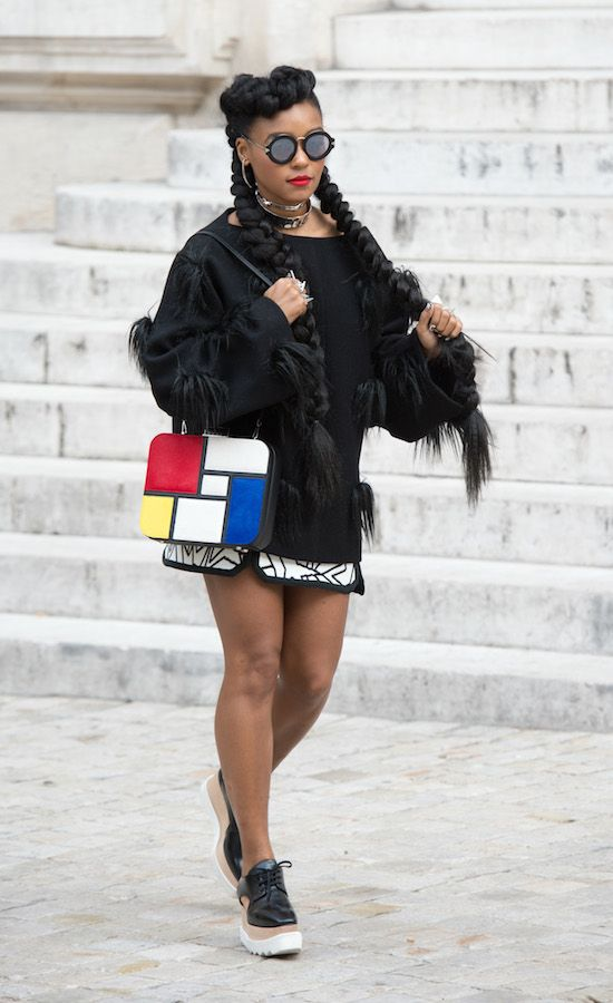 Paris Fashion Week Spring/Summer 2016 - Stella McCartney - Outside Arrivals Featuring: Janelle Monae Where: Paris, France When: 05 Oct 2015 Credit: WENN.com **Not available for publication in France**