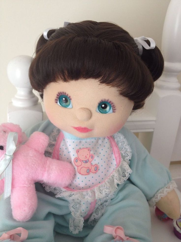 My Child Doll Brunette DR Aqua Grape Pink