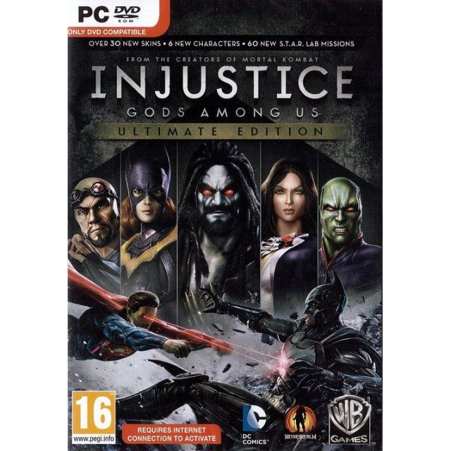 Injustice Gods Among Us Ultimate Edition Dvd Rom Injustice Mortal Combat God