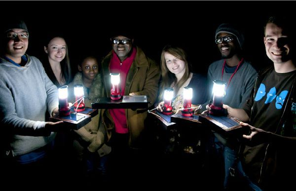 Students build solar powered lanterns to light up the night for the youth of Ghana