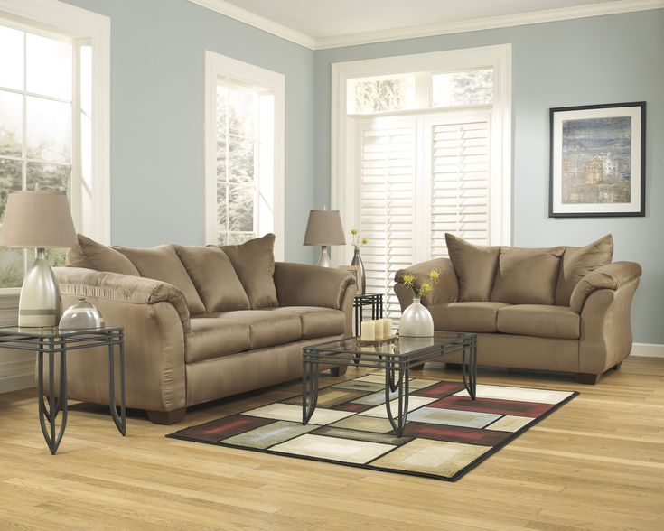 Darcy Mocha Sofa Loveseat By Signature Design By Ashley Get Your Darcy Mocha Sofa Loveseat At Factory Furniture Mattress And More