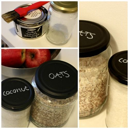 Chalk up your jars! Cute way to reuse what you have