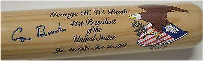 George H Bush Hand Signed Autographed baseball Bat 41st President