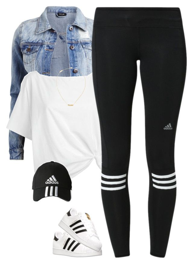 """Adidas*"" by thatchickcrazy on Polyvore featuring VILA, Red Herring, adidas and…"