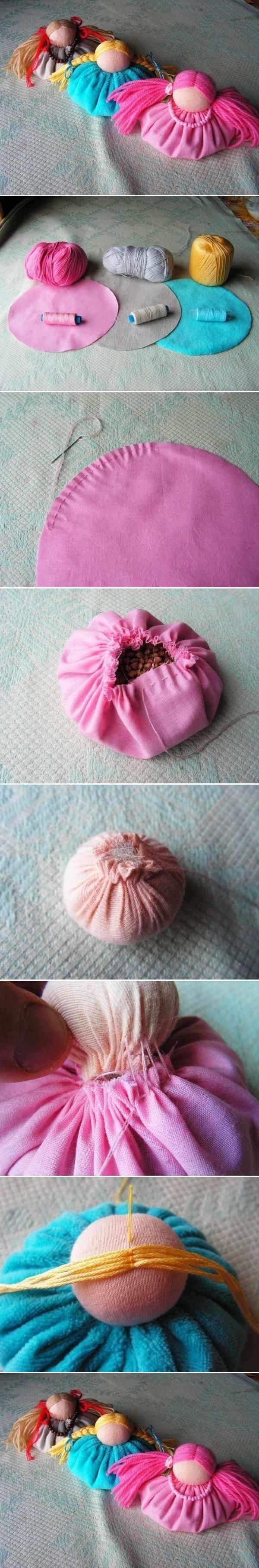DIY Tutorial DIY Fabric Dolls / DIY Fabric Doll Ornament - Bead&Cord