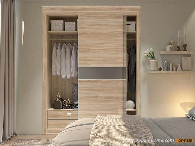 Wood Grain Pvc Sliding Wardrobe Yg17 Hpl01 Bedroom Furniture Design Contemporary Bedroom Design Stylish Bedroom