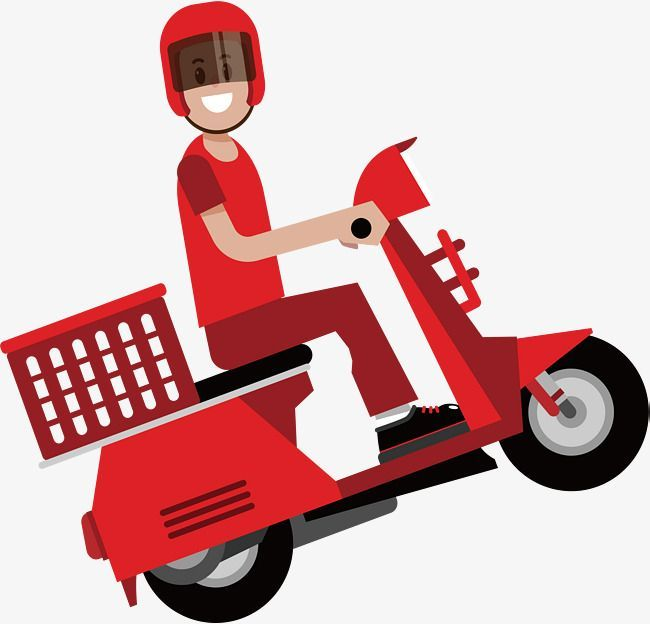 Motorcycle Couriers Vector Png Courier Express Delivery Png And