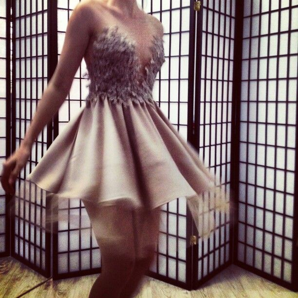 DT cream dress