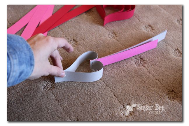 Paper Strip Hearts - Sugar Bee Crafts