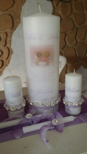 Unity candles. Www.lamori.co.za
