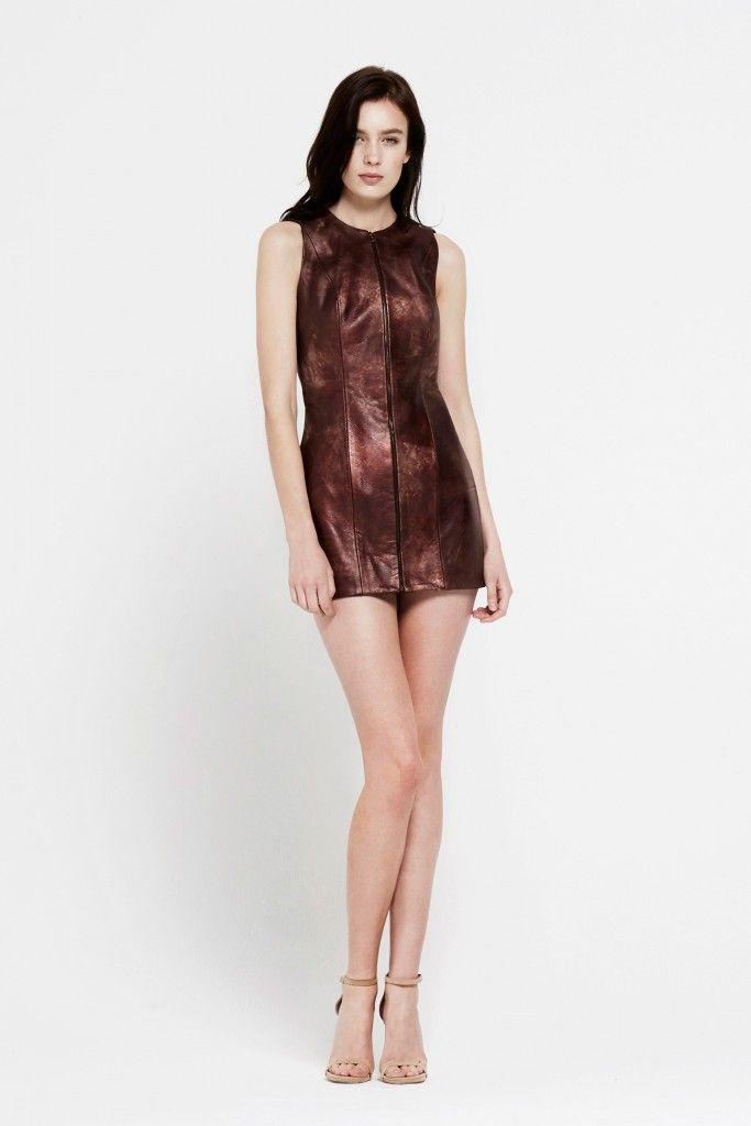 Martine Jarlgaard London / Statue Leather Dress / SS16 / From ByondOnline.com #MartineJarlgaardLondon #LFW #fashion #ss16 #madeinlondon MartineJarlgaard.com