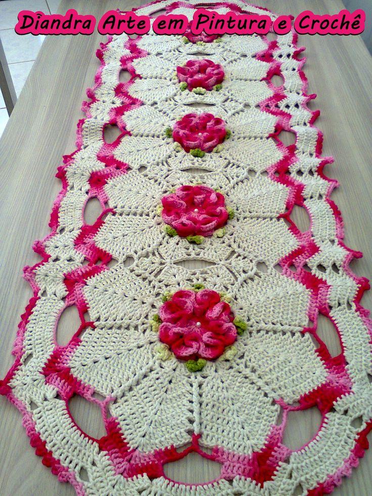 Trilho de Mesa com flor Camélia