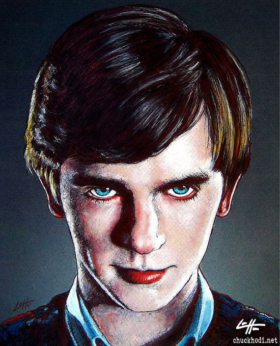 "Print 8x10"" - Norman Bates - Bates Motel Young Thriller Horror Suspense Drama Psycho Freddie Highmore Serial Killer Mom Oregon Vintage Pop"