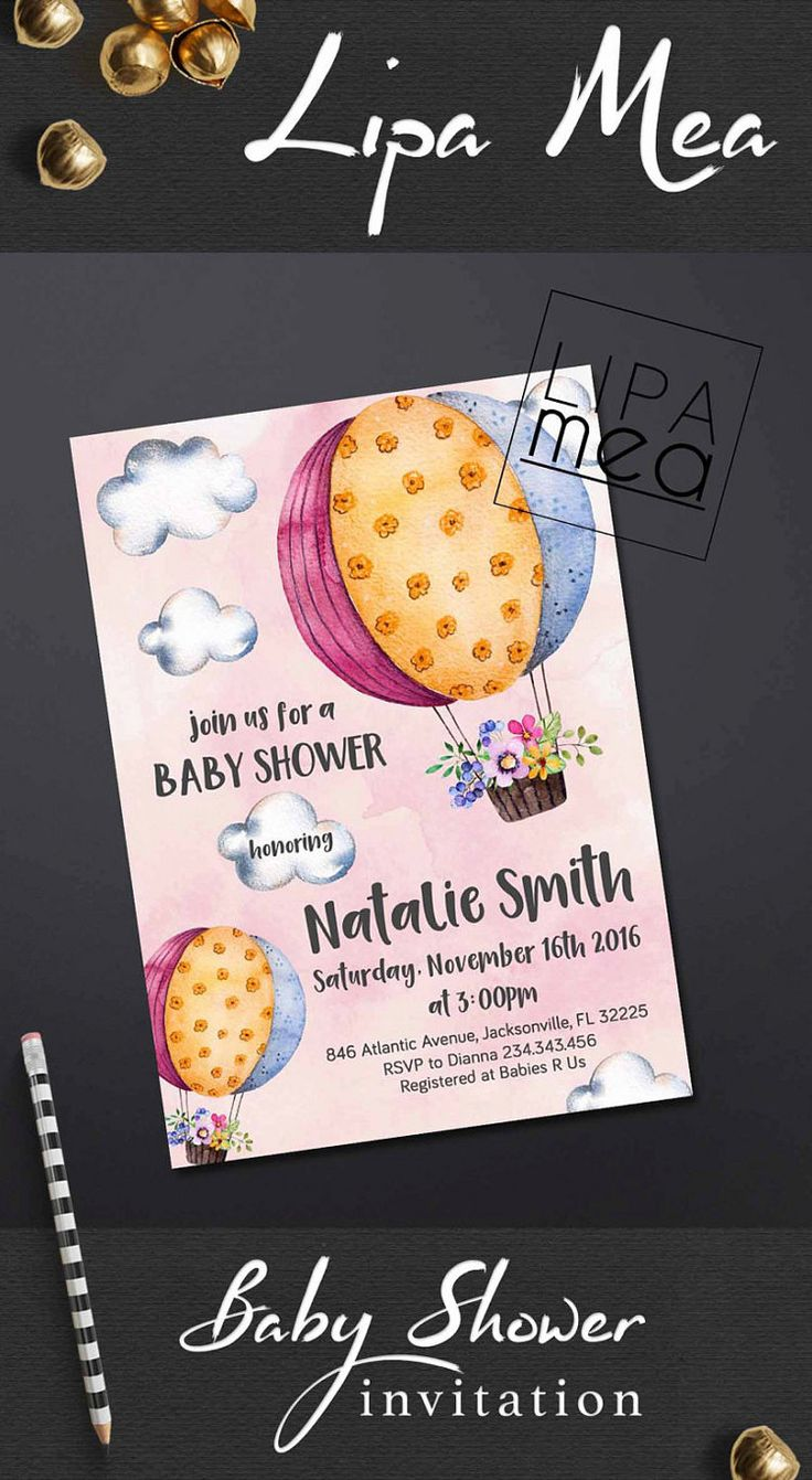 14 best lipa mea printables images on pinterest bachelorette party girl baby shower invitation hot air balloon baby shower invitation printable baby shower invitation adventure baby shower invitation stopboris Gallery