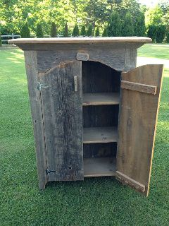 Handcrafted Reclaimed Barnwood Jelly Cupboard Cabinet $250.00