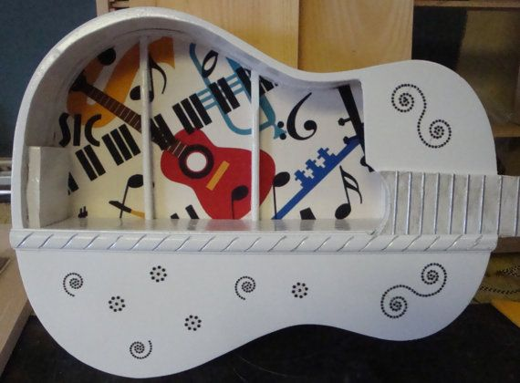 Upcycled Acoustic Guitar Shelf One of a by ThisNThatHodgePodge, $155.00