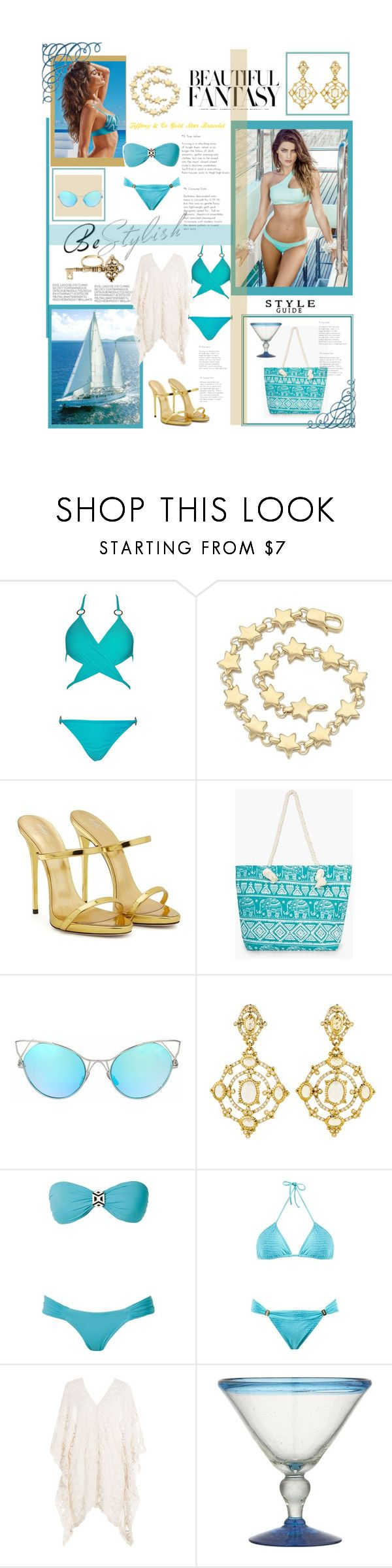 """""""Beautiful Fantasy # 326"""" by dreamer1983 ❤ liked on Polyvore featuring Tiffany & Co., Clayton, Giuseppe Zanotti, Boohoo, Judith Ripka, SUB, Brigitte, Eberjey, Crate and Barrel and House of Harlow 1960"""