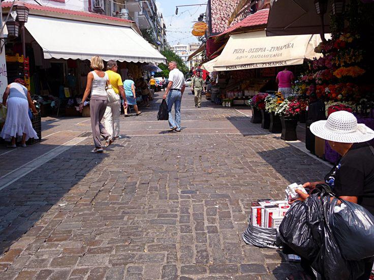 Thessaloniki - Salonicco. Mercato di Modiano.
