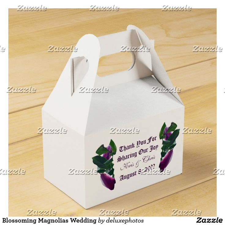 zazzle wedding invitations promo code%0A Blossoming Magnolias Wedding Favor Box
