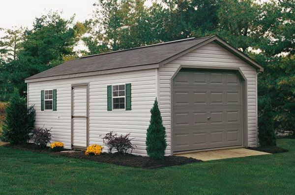 Single car garage dimensions woodworking projects plans One car garage plans