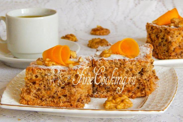 Пирог с тыквой и орехами - рецепт с фото