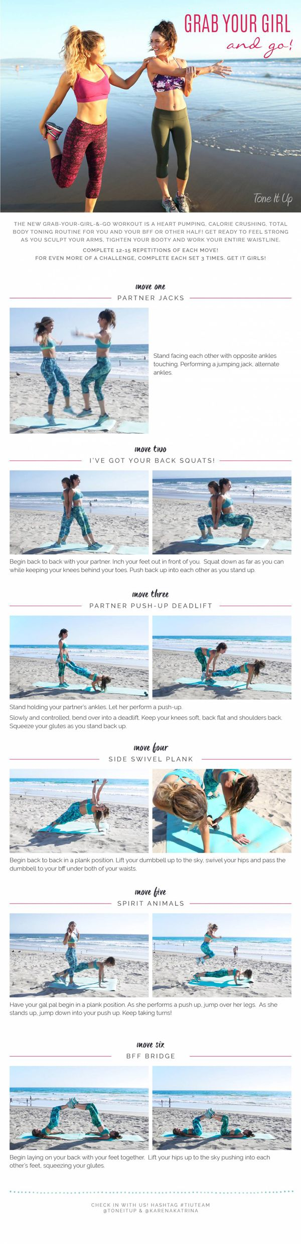 Pull up this workout on your phone the next time you head to the gym with your bestie!
