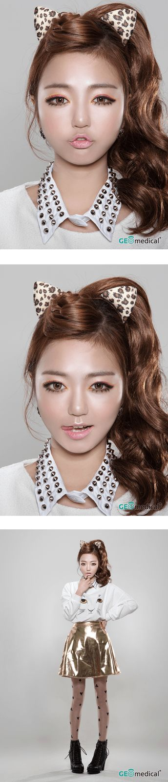 Geo HoliCat Barbie Cat Hazel Circle Lenses (Colored Contacts) | PinkyParadise