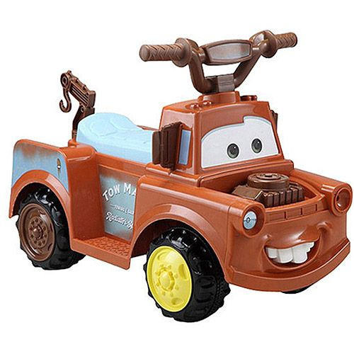 Fisher Price Power Wheels Disney Cars  Mater  Volt Battery Powered Ride On