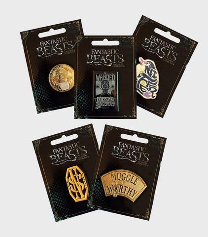 Pin Badge Bundle - Fantastic Beasts   The Harry Potter Shop at Platform 9 3/4