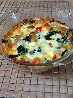 Uit mijn keukentje: Spinaziequiche met salami en paprika