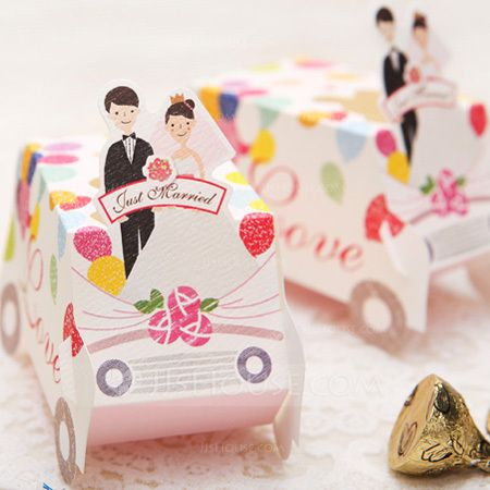 """""""Speeding To Happiness"""" Favor Boxes (Set of 12) (050024705) - JJsHouse"""