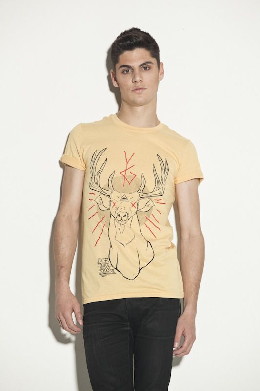 the Deer God honey tee by Young Ghosts
