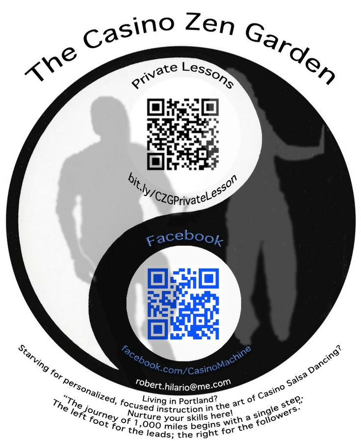 (3) You'll see I added a bit of color, a concise explanation, and a silhouette of two people dancing to help explain what I was offering. I enjoyed designing this for the simple fact that I got to play around with Photoshop a lot more. I found that the color of the QR Code didn't affect its ability to be scanned, so I played with that a bit more, as well.
