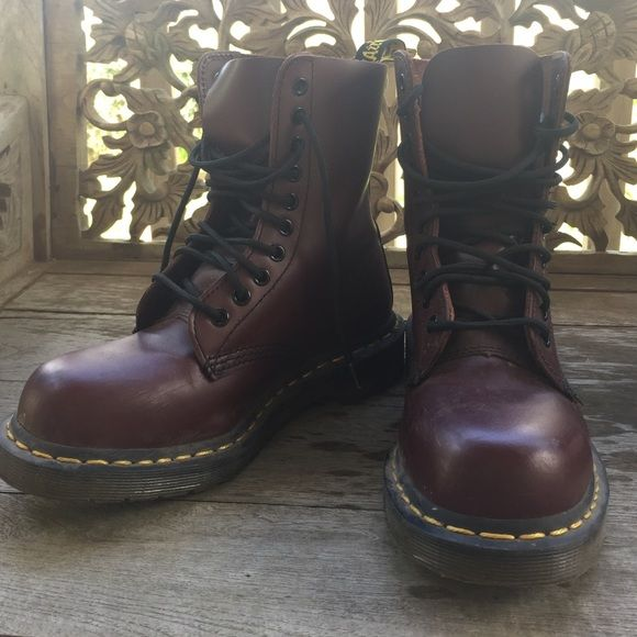 Dr Martens 1919s, Maroon Bought from another posher - just dont wear them enough! Only worn a couple of times! Slight wear but we all know theyre basically indestructible:) Dr. Martens Shoes Combat & Moto Boots