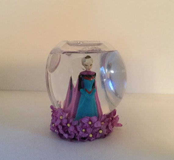 Personalized Disney Frozen Snow Globe  Elsa by GingerspiceStudio