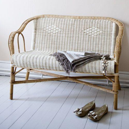 banquette en rotin naturel 2 places marcel maison kok sur decoclico nature pinterest. Black Bedroom Furniture Sets. Home Design Ideas