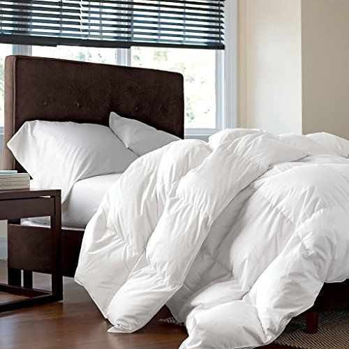 LUXURIOUS KING / CALIFORNIA KING Size Siberian GOOSE DOWN Comforter, 1200 Thread Count 100% Egyptian Cotton 750FP, 50oz, 1200TC, White Solid | shopswell
