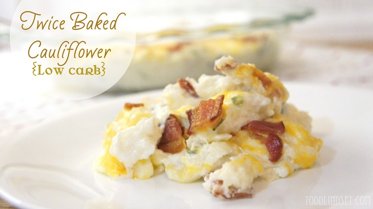 Twice Baked Cauliflower (Low Carb)...Made this for dinner tonight ...