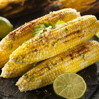 Chipotle-Lime Grilled Corn On The Cob