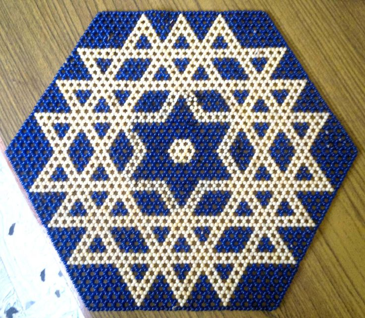 Table doily in beadwork