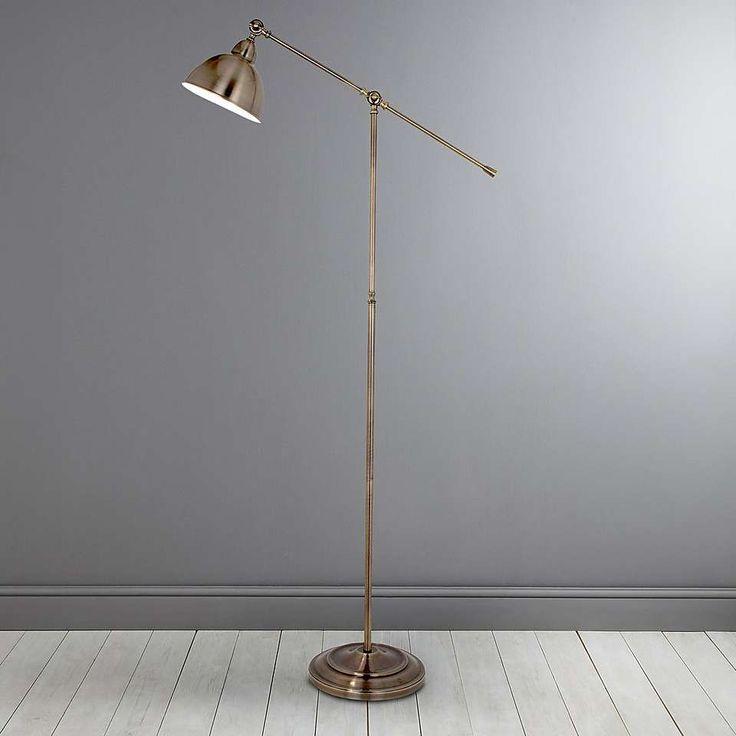 Antique Brass Lever Arm Floor Lamp Living Room Antique