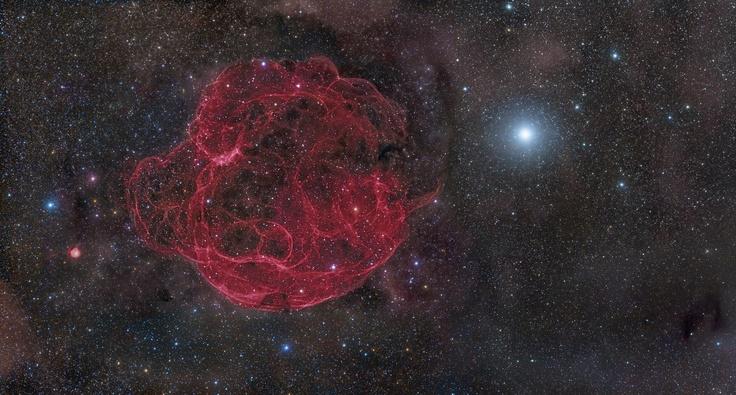 Simeis 147, restos de una SuperNova