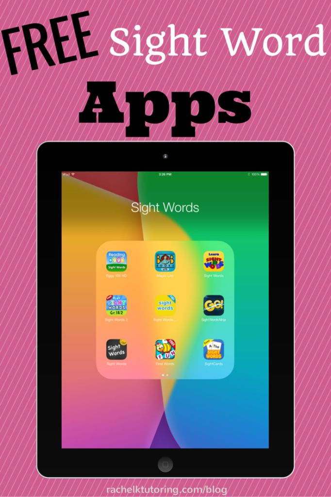Free Sight Word Apps | Rachel K Tutoring Blog