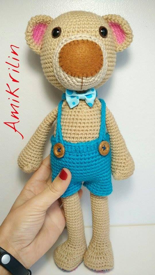 Grey Bear Amigurumi Crochet Pattern : 412 best Crochet / knit bears images on Pinterest