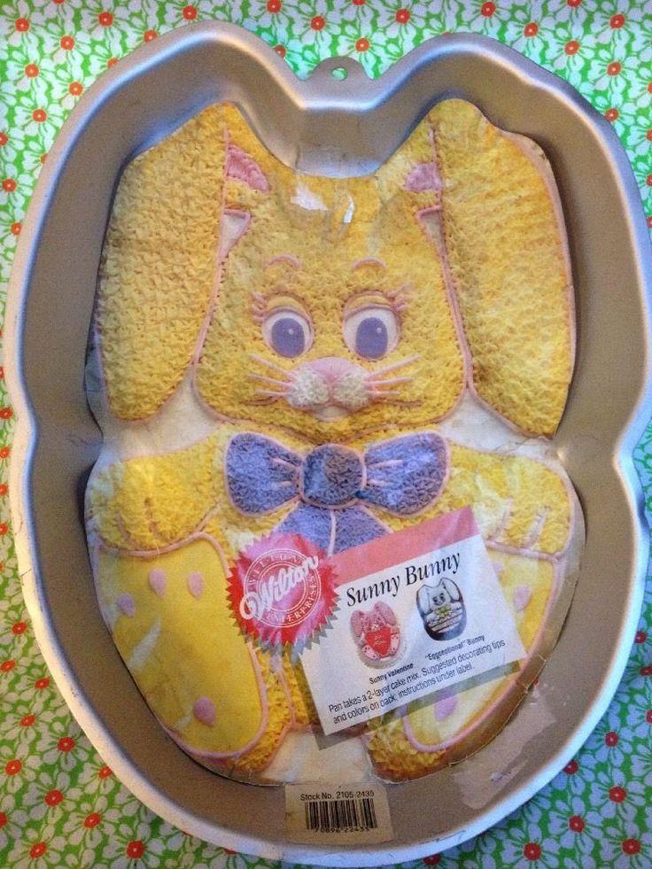 Wilton Sunny Bunny Easter Cake Pan 1987 Vintage 2105 2435