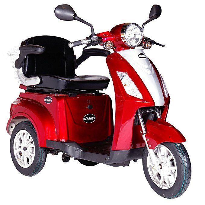 Rolektro E Trike 25 Rot Mit Eu Zulassung Elektroroller E Scooter 600 W Motor 50 Km Reichweite 25 Kmh Hochstgeschwind Dreirad Elektrisches Dreirad Elektroroller