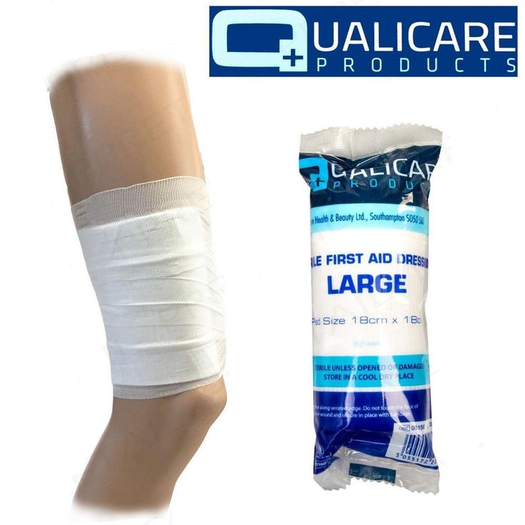 Sterile Bandage Large Non Stick First Aid Wound Injury Pad 18cm x 18cm