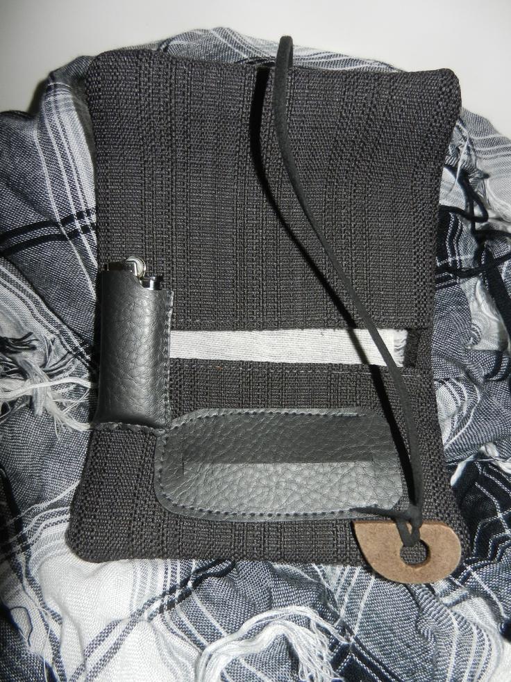 handmade tobacco case*  leather handmade lighter case